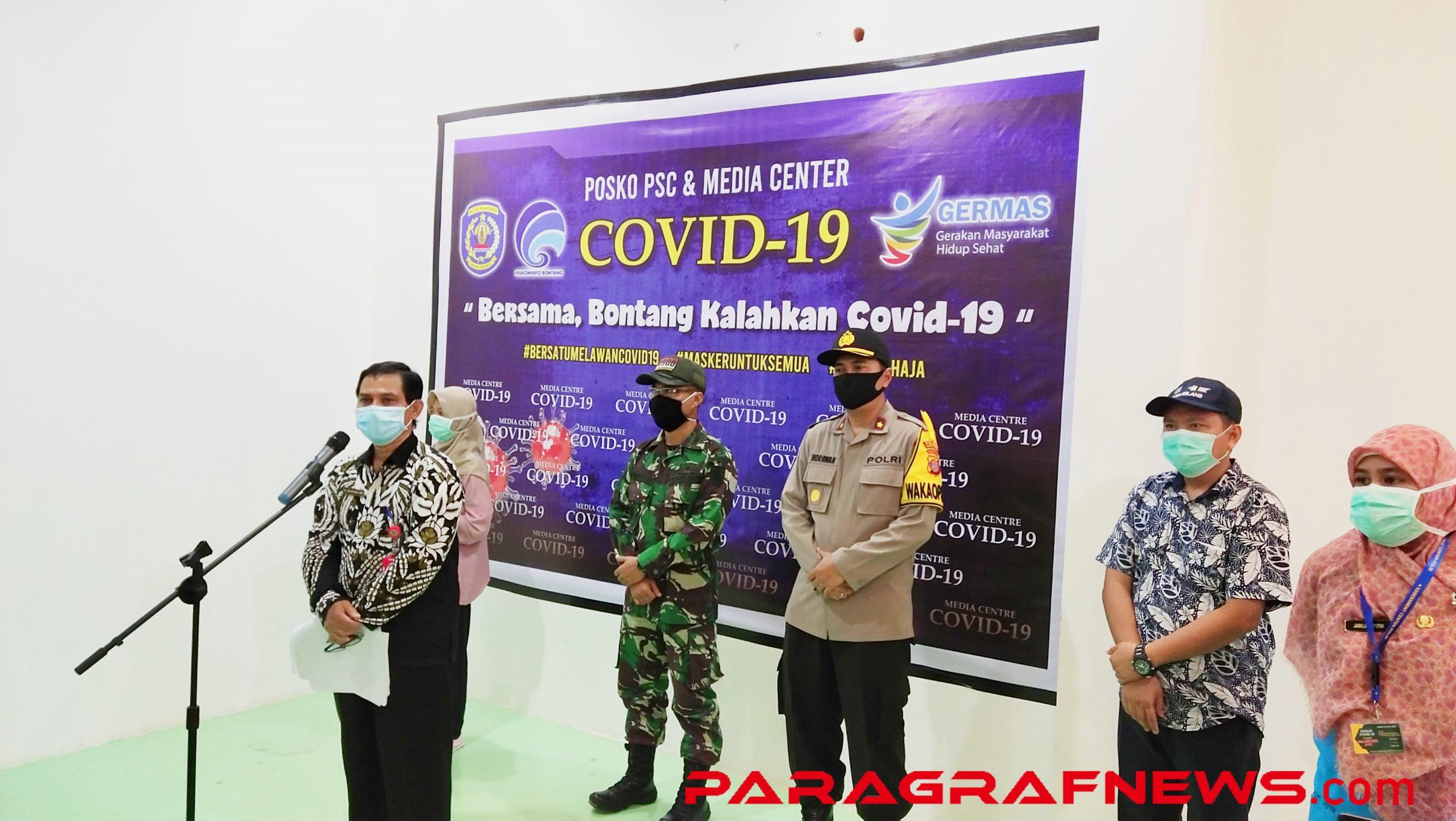 Konferensi Pers yang diketuai oleh Kepala Dinas Kesehatan Bontang Bahauddin di Gedung PSC, Kamis 16/4/2020 (Foto: Istimewa)